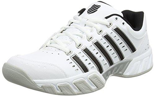 K-Swiss Performance Herren Bigshot Light LTR Carpet Tennisschuhe, Weiß (White/Black/Silver), 43 EU