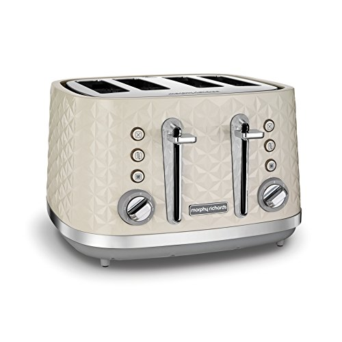 (Cream) - Morphy Richards Vector 4 Slice Toaster 248132 Cream Four Slice Toaster Cream Toaster