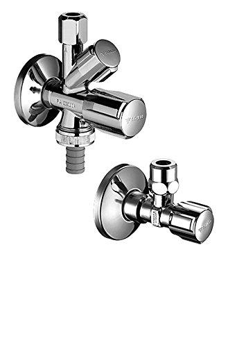 SCHELL 108620699 Armaturenanschluss-Set , Sanitäranschlussset COMFORT , Zum kalt- und warmwasserseitigem Anschluss von Einlocharmaturen + Geräteanschluss , Messing, Chrom