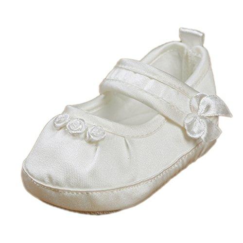 Festliche Taufschuhe Babyschuhe Ballerinas Satin ivory creme Gr. 19 Modell 3580-i