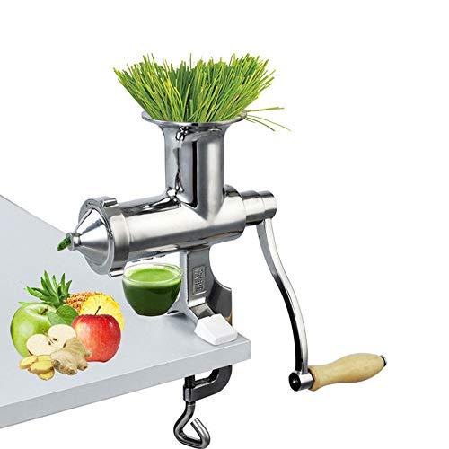 YSYDE Weizengras-Entsafter, handbetriebener Zitronenextraktor aus Edelstahl, großer, rostfreier Metallpresse Fuite, für Orangen, Zitrusfrüchte, Traubenwassermelone