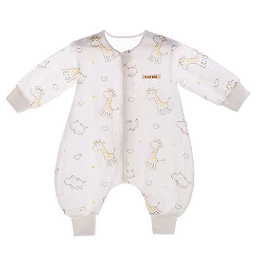 SXSHUN Baby Musselin Schlafsack mit Abnehmbare Ärmel Unisex Sommerschlafsack Babyschlafsack Schlummersack, Pferd Hirsch Engel, 80 (Empfohlene Höhe=80-90cm)