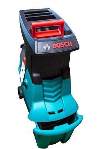 Bosch AXT 25 D Häcksler + Fangbox 53 l + Stopfer (2.500 W, max. Ø 40 mm Schneidekapazität, ca. 175 kg/h Materialdurchsatz)