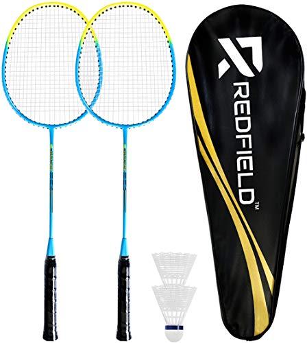Redfield™ Badminton-Set - 2 Badmintonschläger - 2 Federbälle - Tragetasche - Komplettset für 2 Spieler - Outdoor/Indoor-Spiel