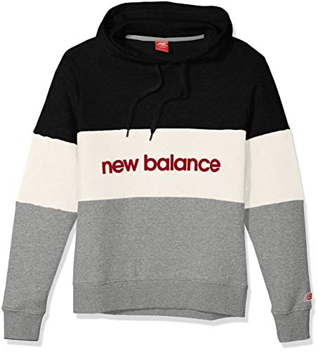 New Balance Herren Athleticss Stadium Hoodie, BKW Black/White, L