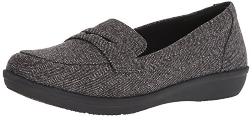 Clarks Women's Ayla Form Loafer, Grey Synthetic, 055 M US