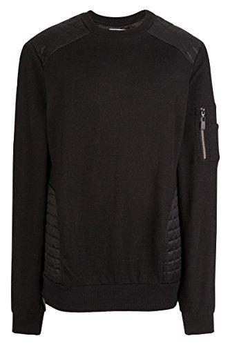 Eleven Paris - Rundhals-Sweatshirts - Herren - Anthrazitfarbenes Sweatshirt Bombers aus Nylon mit Reißverschluss für Herren - M