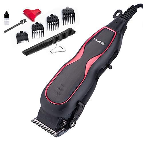 Haarschneidemaschine Professionelle Stumm Ultra Power Elektrische Haarschneider Friseursalon Männer Haarschneidemaschine Mit Kabel 220 V,Rot