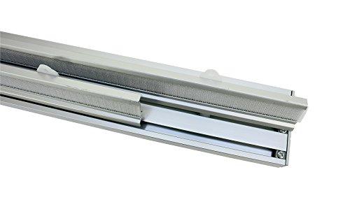 GARDINIA Flächenvorhang Atlanta Komplett-Set, 3-läufige Schiene, Aluminium, Silber, 160 cm
