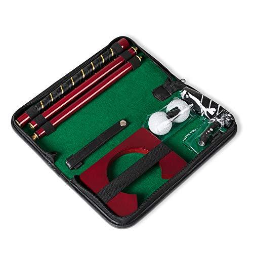 Froster Büro-Golf-Set, im Transportköfferchen, tragbarer Golfschläger/Putter, 2 Bälle, Becher, für Indoor-Putting