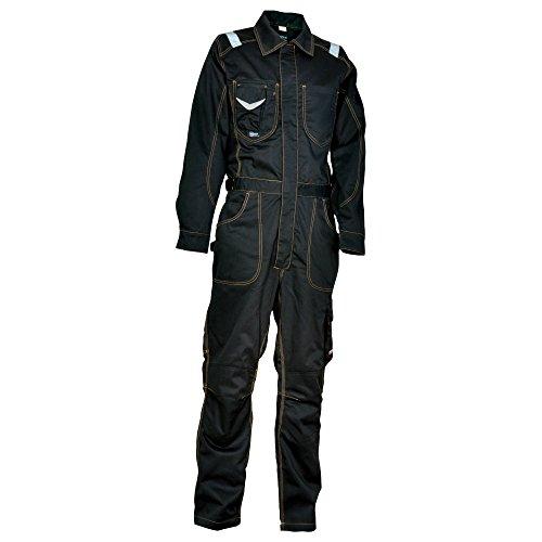 Cofra S.r.l. 40-00V00505-50 Cofra Overall PIT-STOP V005-0-05 Mechaniker Arbeitsoverall 50, BLACK/BLACK