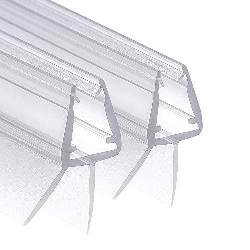Wellba Premium Duschtür Dichtung (2x 80cm) für 6mm 7mm 8mm Glastür Stärken   Wasserabweisende Duschdichtung oder Duschkabinen-Dichtung mit optimal angeordneten Gummilippen