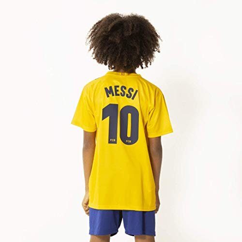 Unbekannt Morefootballs - Offizielles Lionel Messi FC Barcelona Auswärts Trikot Set für Kinder - Saison 19/20-128 - Tenue mit Messi Nummer 10 Trikot und kurzer Hose - Fussball Shirt und Shorts