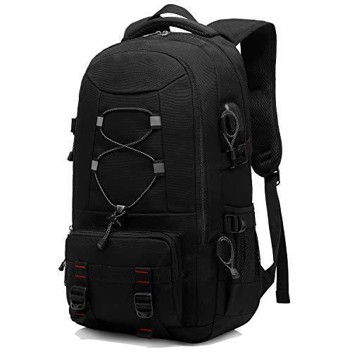 XQXA Reiserucksack, 45L Wasserdichter Wanderrucksack Trekkingrucksack Laptop Rucksack Herren Damen Outdoorrucksack für Camping Klettern Radfahren für bis zu 17.3 Zoll Laptops