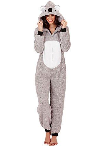 Continental Damen Jumpsuit Overall Tiere Gesichter Öhrchen 3D Kapuze Koala Bear 3D 79662/79762 M