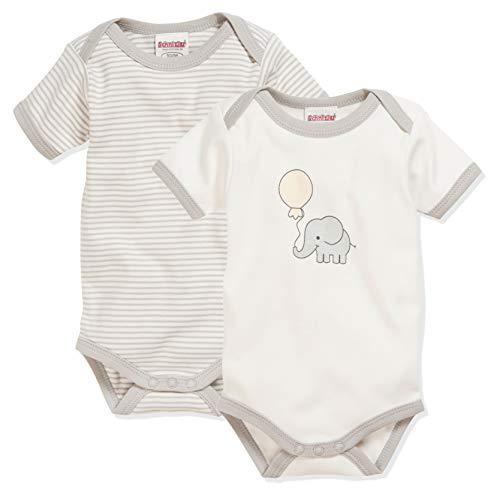 Schnizler Unisex Baby 1/4-arm 2er Pack Elefant Body, Beige (Natur 2), 86-92 EU