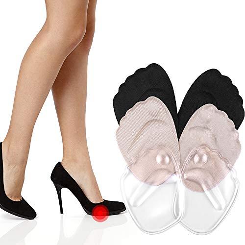 Gel-Ballenkissen, 3 Paar High-Heels, Schuheinlagen, Vorfuß-Pads, zur Schmerzlinderung, Mittelfuß-Pads, wiederverwendbar, Fußballenkissen für Frauen (gemischte Farben, 3 Paar)