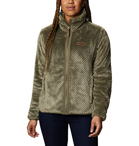 Columbia Damen Fire Side II Sherpa Full Zip Pullover, Steingrün, 2X