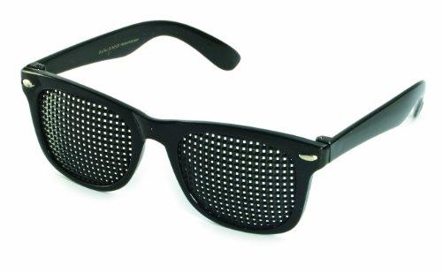Rasterbrille 415-SSP quadratischer Raster, schwarz