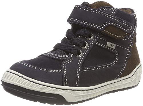 Lurchi Jungen Barney-TEX Hohe Sneaker, Blau (Atlantic Brown 22), 30 EU