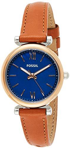 Fossil Damen Analog Quarz Uhr mit Leder Armband ES4701