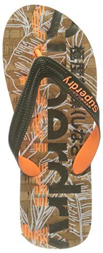 Superdry Herren Cork FLIP Flop Slipper, Fluro Orange X-Weit, X-Large EU
