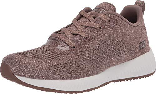 Skechers Damen Bobs Squad - Glitz Maker Sneaker, Braun (Taupe Sparkle Engineered Knit TPE), 40 EU