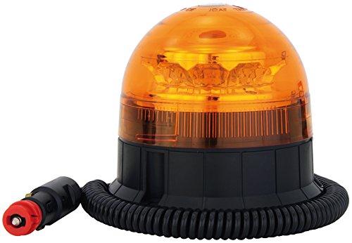 AdLuminis LED Rundumleuchte Orange Mit Magnetfuß, Blinkleuchte 12V 24V, ECE R65 Straßenverkehr Zulassung, KFZ Warnleuchte