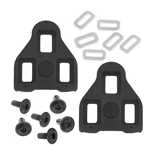 Trivio Schuhplatten Look Delta Compatible Schwarz 0° - Look Rennrad Cleats - Look Pedalplatten, Klassiker Look Pedale für Rennrad - Look Cleats, Platten