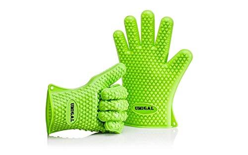 Topfhandschuhe Barbecue Handschuhe, Silikon Heat Resistant Grill Zubehör & Home Kitchen Tools für Ihre Indoor & Outdoor Bedürfnisse Kochen, Einsatz als Grillfleisch Turner oder Topflappen (Green)