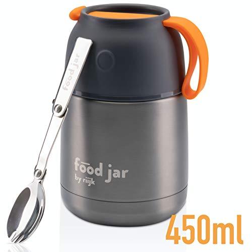 Food Jar Thermobehälter 450ml, Edelstahl Isolierbox für warmes Essen, meal prep und Babynahrung