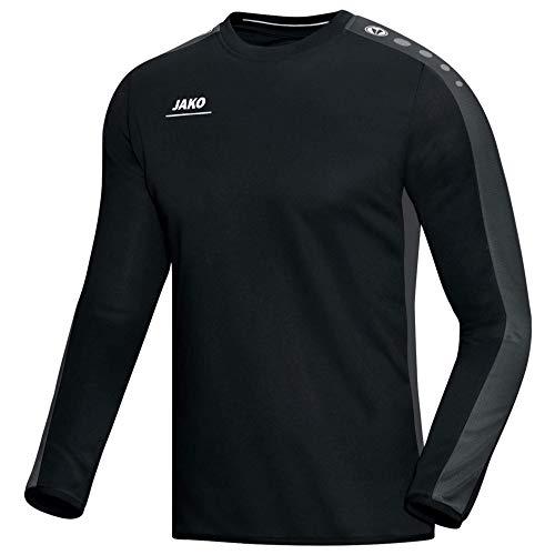 JAKO Herren Sweatshirt Sweat Striker, schwarz/grau, L