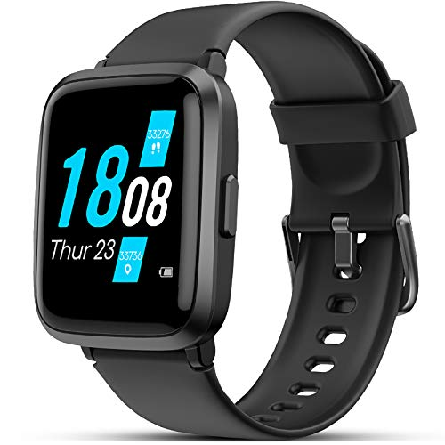 LIFEBEE Smartwatch, Fitness Armband mit Blutdruckmesser Pulsoximeter Blutsauerstoff-Monitor(SpO2) Sportuhr Fitnessuhr Schrittzähler IP68 Wasserdicht Pulsuhr Damen Herren Smart Watch für iOS Android