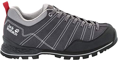 Jack Wolfskin Damen Scrambler Low W 4036671 Walking-Schuh, Phantom/Light Grey, 41 EU