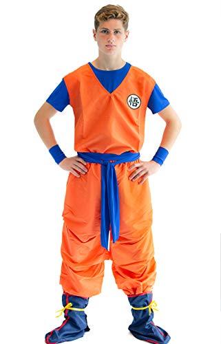 CoolChange Dragonball 3 Teiliges Son Goku Cosplay Kostüm, Größe: S