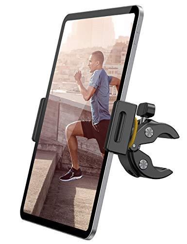 Lamicall Laufband Tablet Halter, Heimtrainer Fahrrad Tablet Halterung - Spinning Innen Laufband Fahrrad Halter Lenker für 2020 iPad Pro 9.7, 10.5, 12.9, Air Mini 2 3 4, und Tablet mit 4.7-13 Zoll