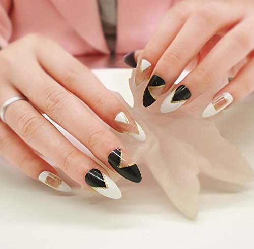 Künstliche Fingernägel False Nail Tips Fake Nails, French Style 0055-6 Nail Sticker Tattoo - FashionLife