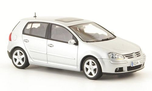 VW Golf V, silber, 5-türig, 2003, Modellauto, Fertigmodell, Auto Art 1:43
