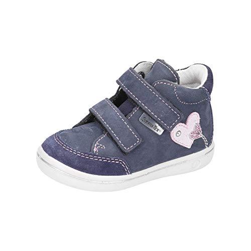 RICOSTA Kinder Stiefel Lara von Pepino, Weite: Mittel (WMS),wasserfest, detailreich Boots Klett-Stiefel wasserdicht Kids,Nautic,26 EU / 8 Child UK