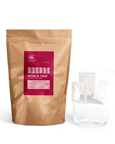 Kaffee von mycoffeebag World Trip | Selbstaufbrühen ohne Filterkaffeemaschinen | Feinste Arabica Kaffeebohnen | Frische Instant Kaffee Alternative