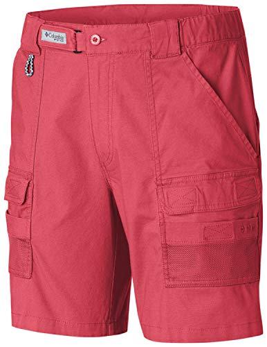 Columbia Herren Half Moon III Short UV Sonnenschutz Utility Pockets, Herren, Half Moon™ Iii Short, Sunset red, Medium x 8