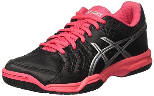 ASICS Damen Gel-Squad American Handball Schuhe, Mehrfarbig (Black/Silver/Rouge Red), 37 EU