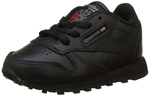 Reebok Unisex Baby Classic Leather Sneaker, Schwarz (Black 1), 24 EU