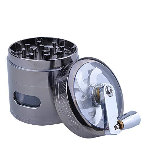 LEWWB Maschine rauchen,63mm Creative Premium Stopfmaschine für Zigaretten, Zinklegierung 4. Etage Handschüttler Tabak-Rohrschleifwerkzeug,1PCS