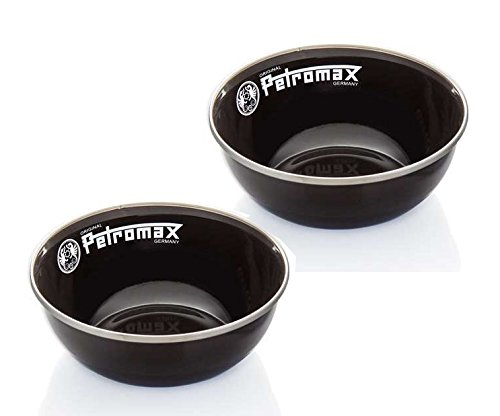 Petromax Emaille Schalen (2 Stück im Set) (schwarz)