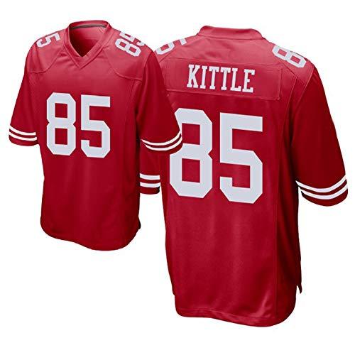 Rugby Jersey Kittle 85# 49ers T-Shirts für Männer Wettkampftraining Professionelle Ballanzüge Hip Hop Street Dance Schnelltrocknend Weiß Schwarz Geeignet für Studenten junger Erwachsener-red1-M