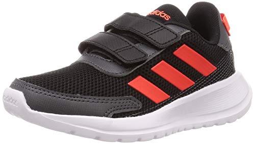 adidas Boys TENSAUR Run C Running Shoe, Core Black/Solar Red/Grey Six, Gr. 32