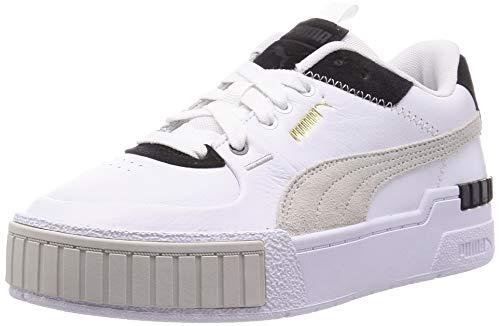 Puma Damen CALI Sport Mix WN S Sneaker, White Black, 39 EU