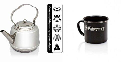 Petromax Teekessel Wasserkessel Teekanne + 2 Petromax Becher