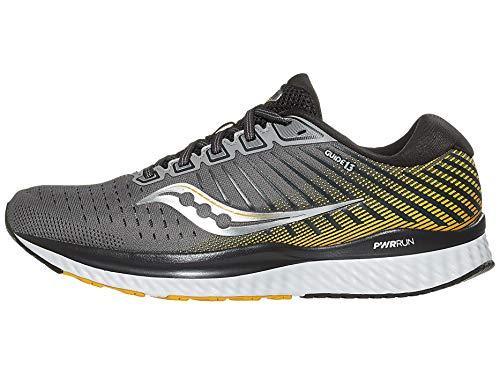Saucony Herren Guide 13 Leichtathletik-Schuh, 45 Grey Yellow, 44.5 EU